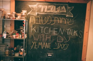 Announcement for Kitchen Talk one day later. Photo: MS
