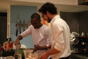 The cook Habtom Mesfin (left) with Goor Somer. Photo: AKDLD