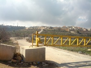 About 66  agricultural gates accompany the security barrier. They are used by Palestinians with a permit whose land is on the other side of the barrier and they are often cause for trouble between them and Israeli police or military or with Israeli officials. Photo: LH
