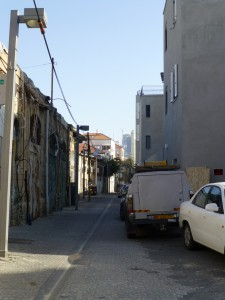 and old and new right next to each other in Jaffa, South Tel Aviv. Photo: PS