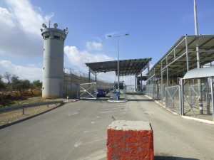 A checkpoint only accessible for diplomats. Photo PS