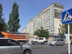 Volle Straßen in Bischkek