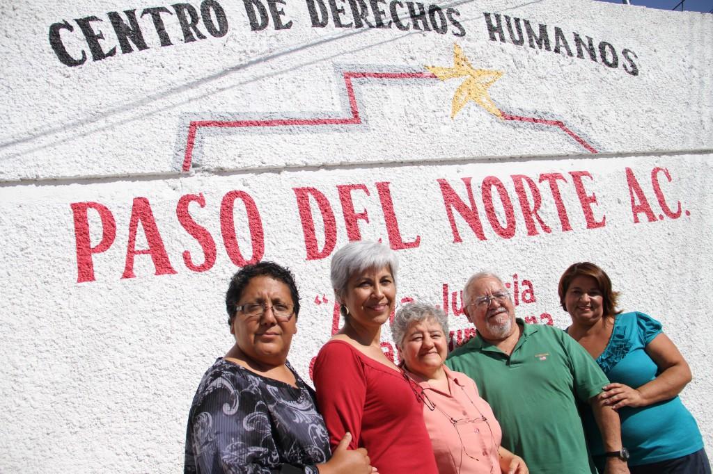 Die Mitarbeiterinnen und Mitarbeiter des Menschenrechtszentrums Paso del Norte